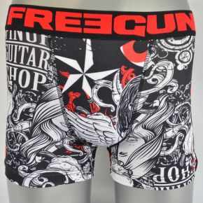 Caleçon junior Freegun rouge gris