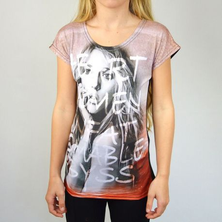 Tee shirt fille manches courtes