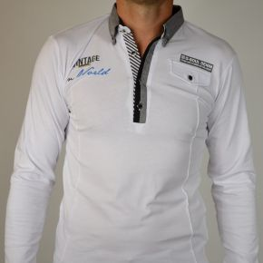 Polo Maxway manches longues blanc