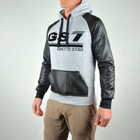 SWEAT GS7 à capuche gris/noir