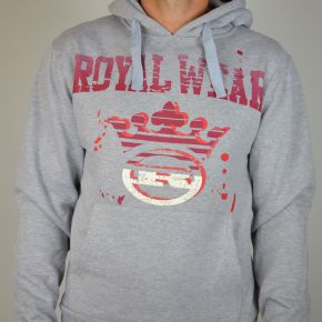Sweat capuche Royal Wear gris rouge