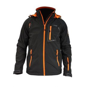 Veste softshell homme Himalaya Mountain noir zip orange