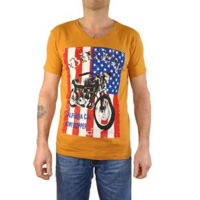 Tee shirt TONY COPPER  moutarde