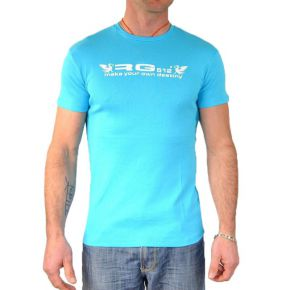 Tee shirt homme RG512 manches courtes col rond turquoise