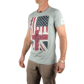 Tee shirt homme col rond gris