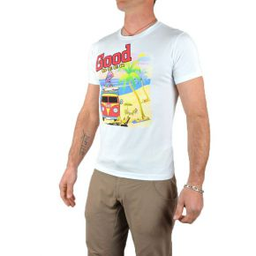Tee shirt homme blanc manches courtes flocage Good Beer