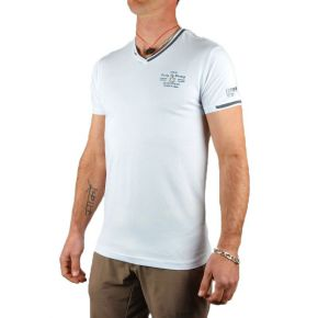 T-shirt homme Maxway col double V blanc