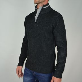 Pull homme T-Traxx double col gris