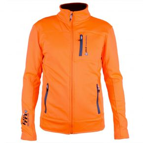 Blouson polar shell homme Peak Mountain orange