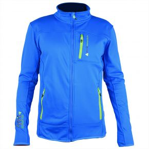 Blouson polar shell homme Peak Mountain bleu strong
