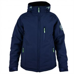 Veste softshell homme Himalaya Mountain trois couches noir vert anis