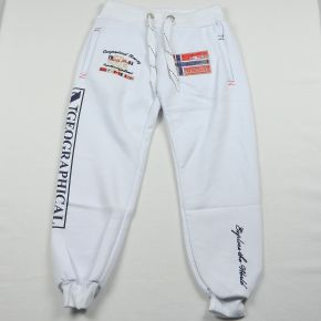 Pantalon jogging garçon Geographical Norway molletonné blanc