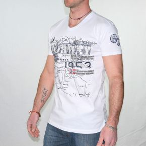Tee shirt homme Geographical Norway Jagatel blanc