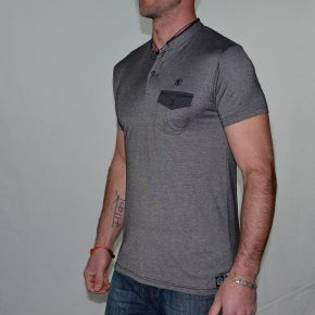 Polo homme T-TRAXX CCA 105 manches courtes gris