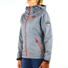 Veste softshell femme Geographical Norway gris zips orange