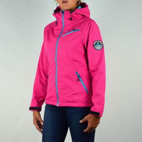Veste softshell femme Geographical Norway rose zips turquoise