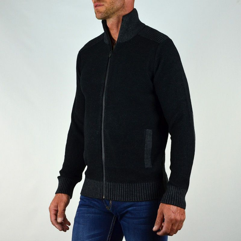 gilet cardigan noir homme sweater grey. Black Bedroom Furniture Sets. Home Design Ideas