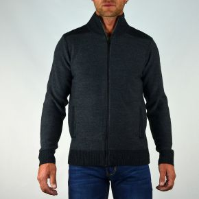 Gilet cardigan homme T-Traxx gris anthracite