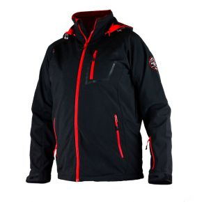 Veste softshell homme Himalaya Mountain noir zip rouge