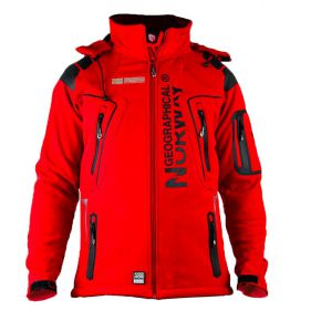 Veste softshell homme Geographical Norway rouge