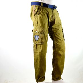 Pantalon cargo homme Geographical Norway  kaki