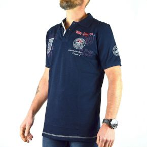 Polo Explorateur homme Geographical Norway bleu marine
