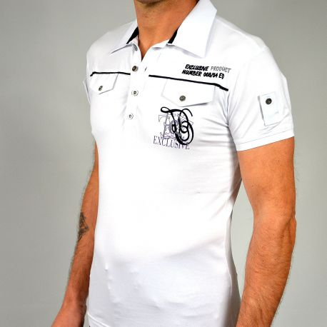 Polo Maxway manches courtes  blanc