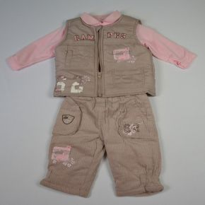 Ensemble fille Tom et Kiddy quatre piéces beige rose