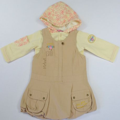 Ensemble fille Tom et Kiddy robe sweat beige