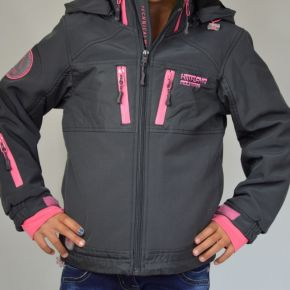 Veste softshell fille Himalaya Mountain anthracite zip rose
