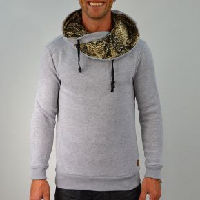 Sweat homme col boule et capuche Tony Copper gris