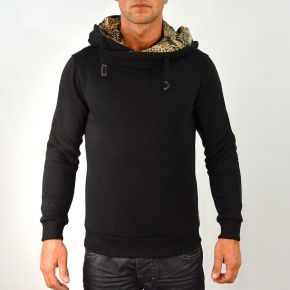 Sweat homme col boule et capuche Tony Copper noir