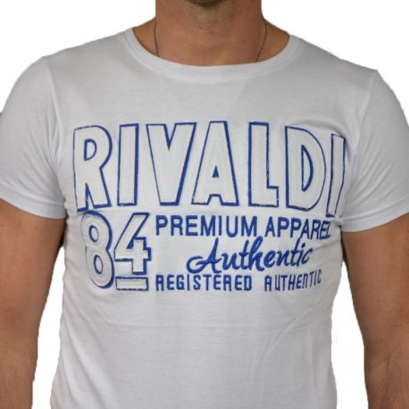 T-shirt homme Rivaldi col rond manches courtes blanc