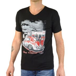 Tee shirt homme col V Tony Copper noir