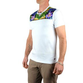 Tee shirt homme Tony Copper blanc imprimé exotique