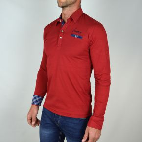 Polo homme JIM POWEEL bordeau