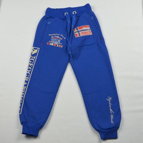 Pantalon jogging garçon Geographical Norway molletonné bleu