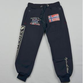 Pantalon jogging garçon Geographical Norway molletonné marine