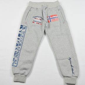 Pantalon jogging garçon Geographical Norway molletonné gris