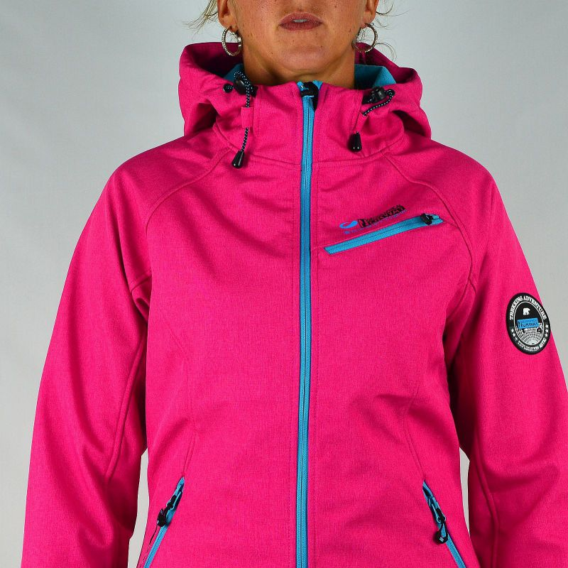 Femme Rose Softshell Geographical Norway Jeans Gg Zips Veste Turquoise eBrxoCd