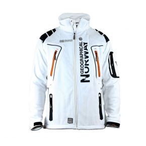 Veste softshell homme Geographical Norway Tambour blanc