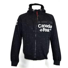 Sweat zippé homme Canadian Peak noir