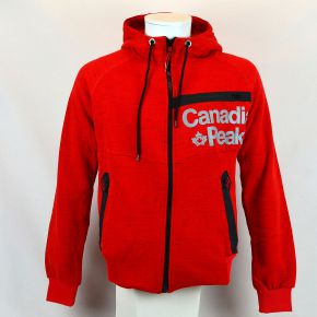Sweat zippé homme Canadian Peak rouge