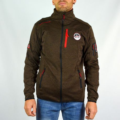 Polaire homme Geographical Norway chocolat