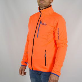 Blouson polarshell homme Himalaya Mountain orange