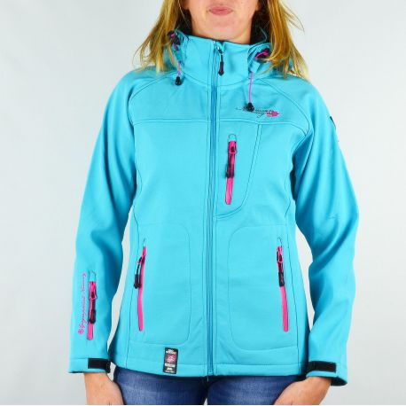 Veste softshell femme Geographical Norway Tatia Lady turquoise