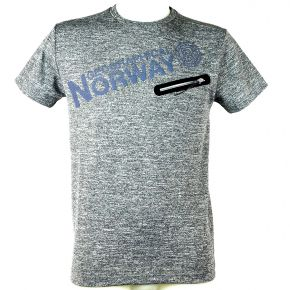 Tee shirt homme Geographical Norway Jagora gris clair chiné