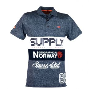 Polo homme manches courtes Geographical Norway Karchie bleu