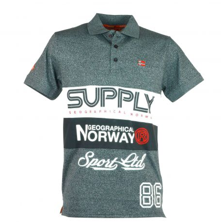 Polo homme manches courtes Geographical Norway Kachie gris clair