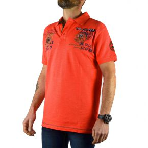 Polo Explorateur homme Geographical Norway corail